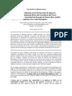 PARTE III. EVALUACIÓN DEL GASODUCTO DEL NORTE. CASA PUEBLO
