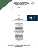 Legalidad Manual de Procesos y Procedimientos