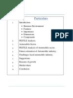 Business Environment PESTLE ANALYSIS