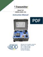 Manual GDD  IP TX-II Transmitter