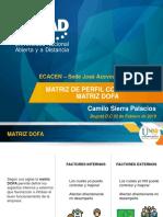 Matriz de Perfil Competitivo y DOFA