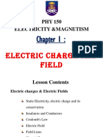 Phy150_chapter 1 Electric Charge & Electric Field 2018