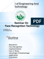 Seminar Face Recognition Technology