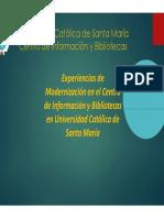 Experiencias de Modernización en el Centro de Información y Bibliotecas en Universidad Católica de Santa María_UCSM