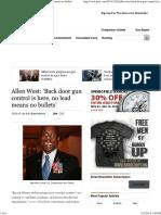 Allen West_ 'Back Door Gun Control is Here, No Lead Means No Bullets'