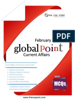Monthly Global Point Current Affairs With MCQs Febriary 2019