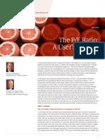 The PE Ratio a Users Manual FINAL