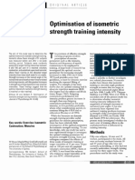 Isometric Training Intensity