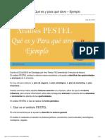 Análisis PESTEL_ Qué es y para qué sirve – Ejemplo