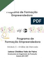 Programa de Formação Empreendedora - Análise de Mercado