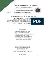 Seminario II. Malformaciones Dig. y Cav.