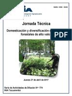 INIA Publicación Domesticación y Diversificación de Especies Forestales de Alto Valor 27 de Abril de 2017