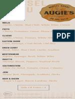 Augie mussel menu