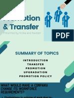 Promotion & Transfer (1)