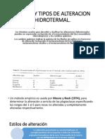 Estilos y Tipos de Alteracion Hidrotermal