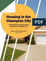 Final HousingInTheChampionCity August2019