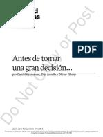Kahneman, Lovallo y Sibony - Antes de tomar una gran decisión.pdf