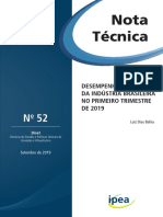 Nota Técnica - 2019 - Setembro - Número 52 - Diset