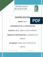 Desempleo en Mexico