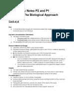 Psychology Notes p1 p2