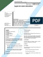 NBR 06187 - Lingote de Cobre Eletrolitico