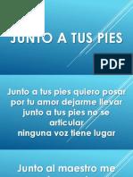 JUNTO A TUS PIES.pptx