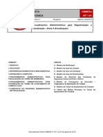 NT 1-01 - Procedimentos Administrativos Para Regularização e Fiscalização - Parte 2 (Fiscalização)