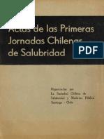 Actas Primeras Jornadas Salubridad 1950