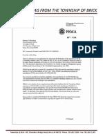 FEMA Letter To Brick Township, 2019