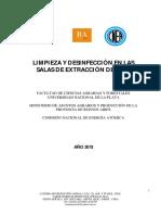 IV Limpieza y Desinfeccion en Sala de Extraccion
