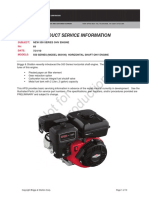Briggs and Stratton Specifications Sheet