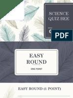 Science Quiz Bee - Grade 9