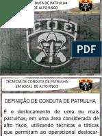 Técnicas Conduta Patrulha ECPLAR15-1