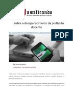 Profissão Docente - Justificando 1