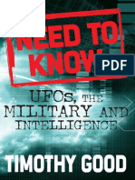 Need to Know UFOs, The Military, And Intelligence - Timothy Good