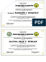 Certificate Honors