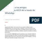 Como Escribir Código ASCII Art a Través de WhatsApp