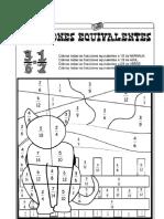 Fracciones Equivalentes Gato y Guacamaya
