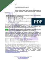 Acta de Entrega Cargo Supervisor