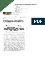 Pruebas genéticas - Artritis reumatoide (Rheumatoid arthritis) – Genes HLA-DRB1, SLC22A4, PTPN22 (PTPN8), CIITA (MHC2TA), IRF5 y NFKBIL1. - IVAMI