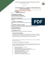 Especificaciones Tecnicas de Equipos Moviliarios Secundaria
