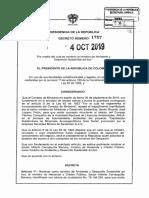 Decreto 1787 Del 04 de Octubre de 2019