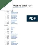 Tutor Tuesday Directory (Public)