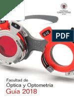 Guía de La Facultad de Óptica y Optometría UCM 2018