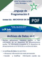 III Unidad Archivos de Datos en C