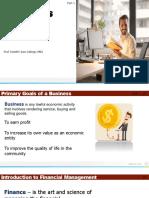 Business Finance First Slide