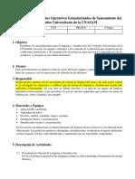 Guía de Procedimientos Operativos Estandarizados de Saneamiento