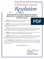 Resolution honoring Dr. Kenneth Simington