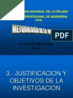 3.- Justificacion y Objetivos de La Investigacion