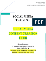 Khatija Q. Social Media Content Creation Online Group Coaching Program Details